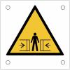 """Plaques de signalisation pour machines """"Danger, écrasement"""""""