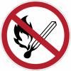 Etiquettes de signalisation pour machines - Flamme nue interdite