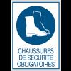 Panneaux rigides adhésifs - Chaussures de securité obligatoires