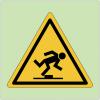 """Panneaux de danger photoluminescent """"Trébuchement"""""""