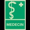 Panneaux de premiers secours photoluminescent - Médecin
