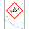 """Etiquettes symboles CLP à compléter """"Matières explosives"""""""