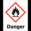 """Etiquettes d'identification des produits dangereux """"Danger - Matières solides inflammables"""""""