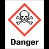 """Etiquettes d'identification des produits dangereux """"Danger - Matières toxiques"""""""