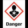 """Etiquettes d'identification des produits dangereux """"Danger - Risque mutagène"""""""