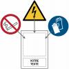 Panneaux en aluminium avec pictogramme et texte personnalisés