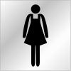 """Plaques signalétiques en plexiglas """"Toilettes femme"""""""