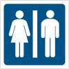 """Pictogrammes de signalisation """"Toilettes homme et femme"""""""