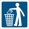 """Pictogrammes de signalisation """"Jeter les déchets à la poubelle"""""""