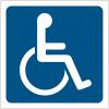 """Pictogrammes de signalisation """"Handicapés"""""""