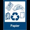 """Panneaux de signalisation """"Tri sélectif des déchets"""" pour Papiers"""
