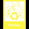 """Panneaux de signalisation """"Tri sélectif des déchets"""" pour Plastique"""