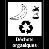 """Panneaux de signalisation """"Tri sélectif des déchets"""" pour Déchets organiques"""