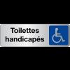 """Signalétique adhésive en vinyle argenté """"Toilettes handicapés"""""""