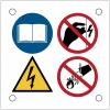 """Plaques de signalisation pour machines """"Multidanger électrique"""""""