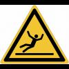 Pictogramme ISO 7010 en rouleau Danger Surface glissante - W011