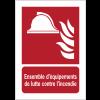 Panneaux ISO 7010 d'incendie à message vertical - Ensemble d'équipements de lutte contre l'incendie - F004B