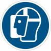 Panneaux et autocollants NF EN ISO 7010 Visière de protection obligatoire - M013