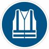 Panneaux et autocollants NF EN ISO 7010 Gilet de sécurité haute visibilité obligatoire - M015