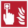 """Panneaux ISO 7010 d'incendie carrés """"Point d'alarme incendie"""" - F005"""