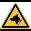 "Panneaux ISO 7010 ""Danger, chien de garde"" - W013"