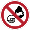 """Panneaux ISO 7010 d'interdiction """"Ne pas utiliser avec une meuleuse portative"""" - P034"""