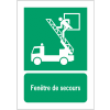 Panneaux ISO 7010 d'évacuation à message vertical - Fenêtre de secours - E017