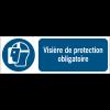 Panneaux ISO 7010 d'obligation à message horizontal - Visière de protection - M013