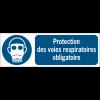 Panneaux ISO 7010 d'obligation à message horizontal - Protection des voies respiratoires - M017