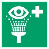 Pictogrammes NF EN ISO en aluminium Equipement de rinçage des yeux