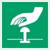 Pictogramme ISO 7010 en rouleau Boutton d'arrêt d'urgence - E020
