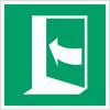 Pictogramme ISO 7010 en rouleau Porte qui s'ouvre en poussant sur son côté gauche - E022