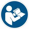 Pictogramme ISO 7010 en rouleau Consulter le manuel/la notice d'instructions - M002