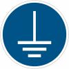 Pictogramme ISO 7010 en rouleau Mise à la terre obligatoire - M005