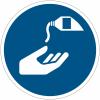Pictogramme ISO 7010 en rouleau Utiliser une crème de protection- M022