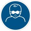 Pictogramme ISO 7010 en rouleau Protection opaque des yeux obligatoire pour les enfants en bas âge - M025