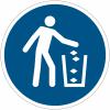 Pictogramme ISO 7010 en rouleau Utiliser la poubelle - M030
