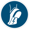 Panneaux et autocollants NF EN ISO 7010 Chaussures antistatiques obligatoires - M032