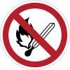 Panneaux et autocollants NF EN ISO 7010 Flammes nues interdites; Feu et source d'allumage non protégée interdits, Interdiction de fumer - P003
