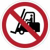 Pictogramme ISO 7010 en rouleau Interdit aux chariots élévateurs à fourche et autres véhicules industriels - P006