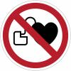 Pictogramme ISO 7010 en rouleau Interdit aux personnes porteuses d'un stimulateur cardiaque - P007