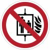 Pictogramme ISO 7010 en rouleau Interdiction d'utiliser l'ascenseur en cas d'incendie - P020