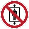 Pictogramme ISO 7010 en rouleau Ne pas utiliser cet ascenseur pour des personnes - P027