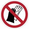 Pictogramme ISO 7010 en rouleau Port de gants interdit - P028