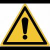 Pictogrammes NF EN ISO en aluminium Danger général - W001