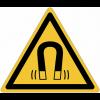 Pictogramme ISO 7010 en rouleau Danger Champ magnétique - W006