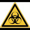 Pictogramme ISO 7010 en rouleau Danger Risque biologique - W009