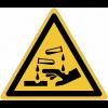 Panneaux et autocollants NF EN ISO 7010 Substances corrosives - W023
