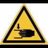 Panneaux et autocollants NF EN ISO 7010 Ecrasement des mains - W024