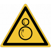 Panneaux et autocollants NF EN ISO 7010 Rouleaux contrarotatifs - W025